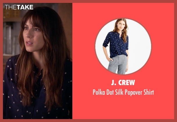 J. Crew blue shirt from Pretty Little Liars seen with Spencer Hastings  (Troian Bellisario)