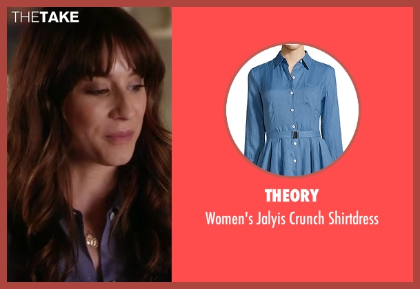 Theory  blue shirtdress from Pretty Little Liars seen with Spencer Hastings  (Troian Bellisario)