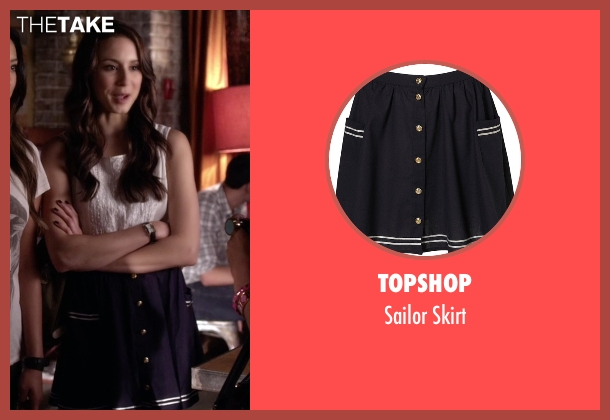 Topshop blue skirt from Pretty Little Liars seen with Spencer Hastings  (Troian Bellisario)