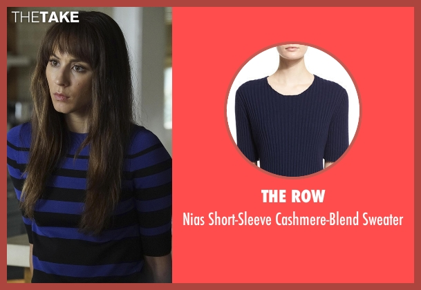 The Row blue sweater from Pretty Little Liars seen with Spencer Hastings  (Troian Bellisario)