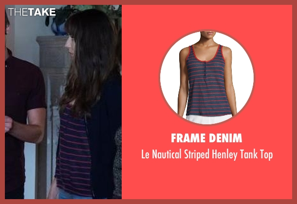 Frame Denim blue top from Pretty Little Liars seen with Spencer Hastings  (Troian Bellisario)