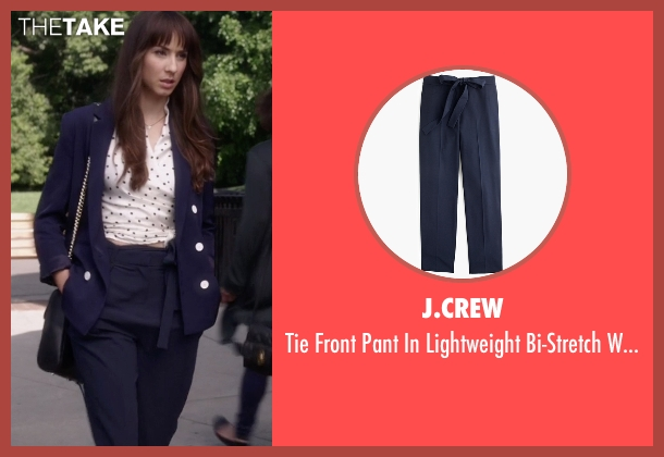 J.Crew blue wool from Pretty Little Liars seen with Spencer Hastings  (Troian Bellisario)