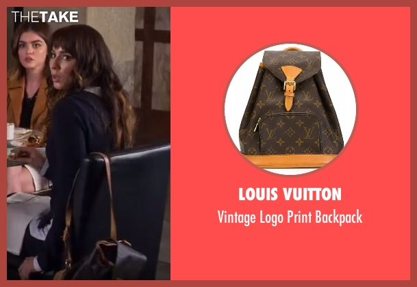 Louis Vuitton brown backpack from Pretty Little Liars seen with Spencer Hastings  (Troian Bellisario)