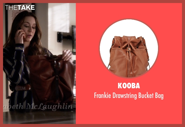 Kooba brown bag from Pretty Little Liars seen with Spencer Hastings  (Troian Bellisario)