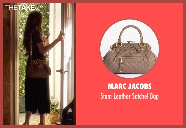 Marc Jacobs brown bag from Pretty Little Liars seen with Spencer Hastings  (Troian Bellisario)