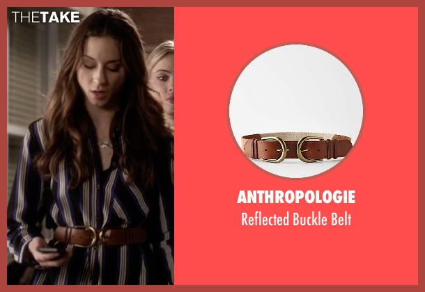 Anthropologie brown belt from Pretty Little Liars seen with Spencer Hastings  (Troian Bellisario)