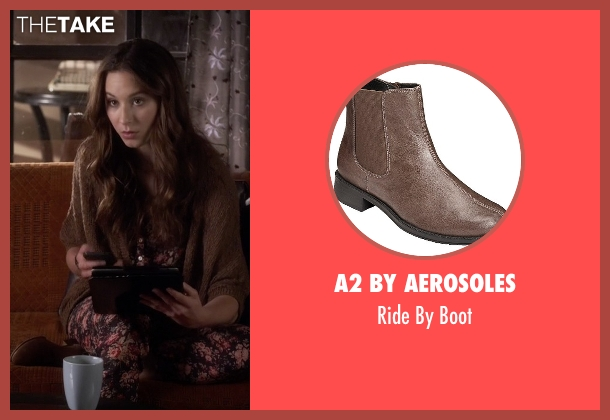 A2 by Aerosoles brown boot from Pretty Little Liars seen with Spencer Hastings  (Troian Bellisario)