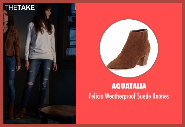 Aquatalia brown booties from Pretty Little Liars seen with Spencer Hastings  (Troian Bellisario)