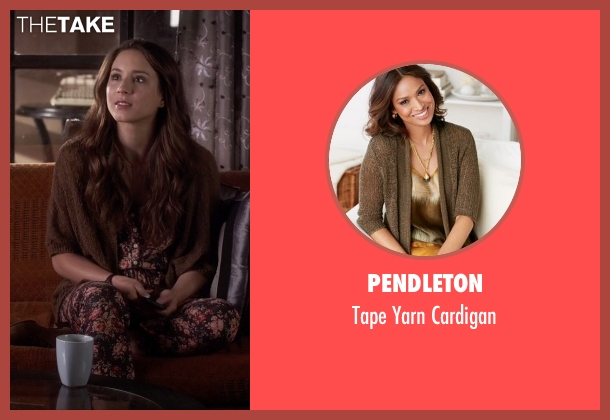 Pendleton brown cardigan from Pretty Little Liars seen with Spencer Hastings  (Troian Bellisario)