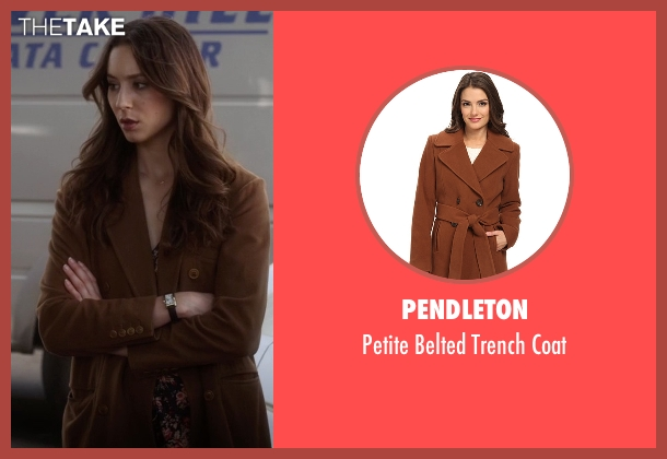Pendleton brown coat from Pretty Little Liars seen with Spencer Hastings  (Troian Bellisario)