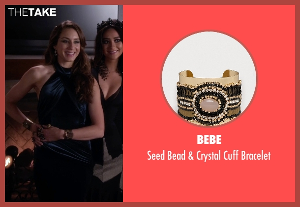 Bebe gold bracelet from Pretty Little Liars seen with Spencer Hastings  (Troian Bellisario)