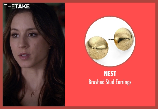 Nest gold earrings from Pretty Little Liars seen with Spencer Hastings  (Troian Bellisario)
