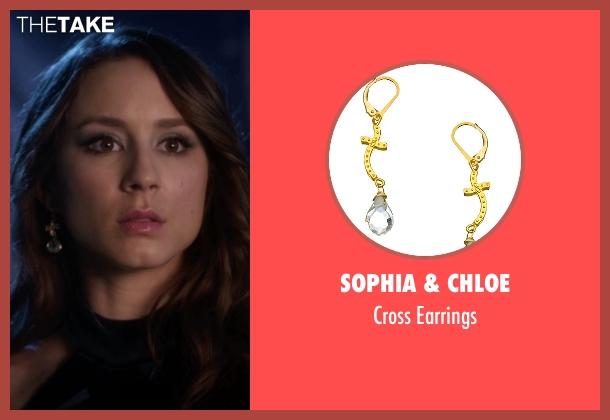 Sophia & Chloe gold earrings from Pretty Little Liars seen with Spencer Hastings  (Troian Bellisario)