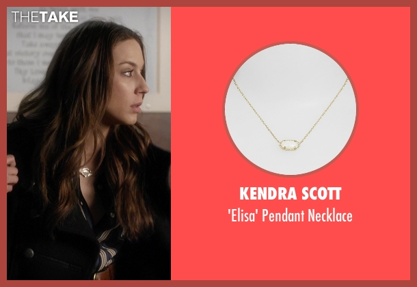 Kendra Scott gold necklace from Pretty Little Liars seen with Spencer Hastings  (Troian Bellisario)
