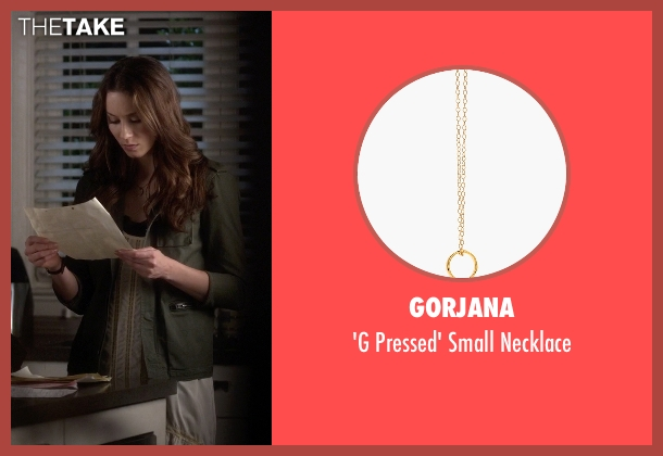 Gorjana gold necklace from Pretty Little Liars seen with Spencer Hastings  (Troian Bellisario)