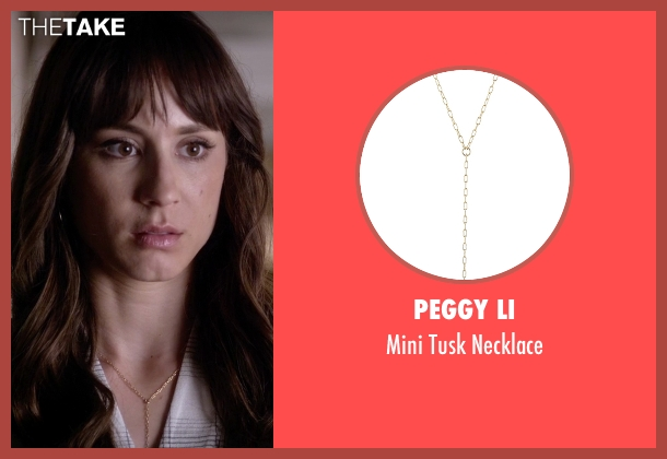 Peggy Li gold necklace from Pretty Little Liars seen with Spencer Hastings  (Troian Bellisario)