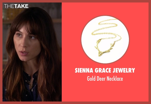 Sienna Grace Jewelry gold necklace from Pretty Little Liars seen with Spencer Hastings  (Troian Bellisario)