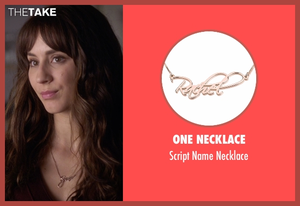 One Necklace gold necklace from Pretty Little Liars seen with Spencer Hastings  (Troian Bellisario)