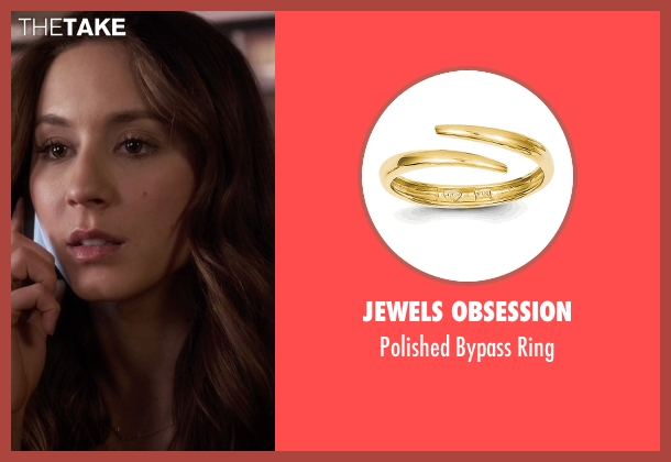 Jewels Obsession gold ring from Pretty Little Liars seen with Spencer Hastings  (Troian Bellisario)