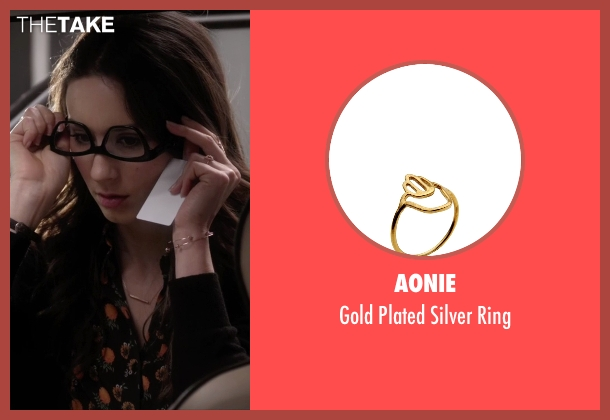 Aonie gold ring from Pretty Little Liars seen with Spencer Hastings  (Troian Bellisario)
