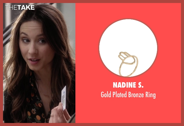 Nadine S. gold ring from Pretty Little Liars seen with Spencer Hastings  (Troian Bellisario)
