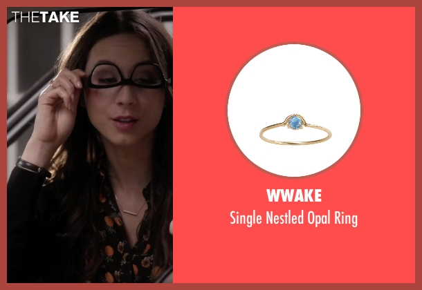 WWAKE gold ring from Pretty Little Liars seen with Spencer Hastings  (Troian Bellisario)