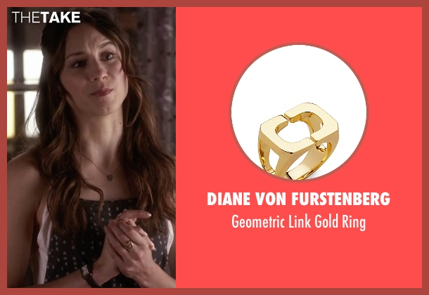 Diane Von Furstenberg gold ring from Pretty Little Liars seen with Spencer Hastings  (Troian Bellisario)