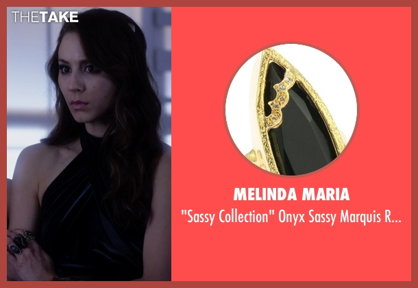 Melinda Maria gold ring from Pretty Little Liars seen with Spencer Hastings  (Troian Bellisario)