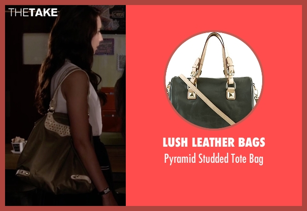 Lush Leather Bags gray bag from Pretty Little Liars seen with Spencer Hastings  (Troian Bellisario)