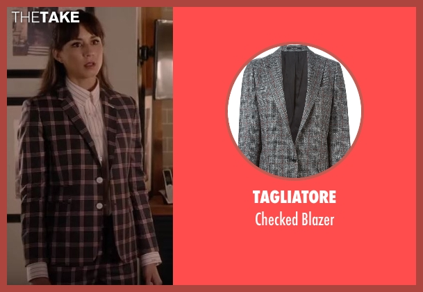 Tagliatore   gray blazer from Pretty Little Liars seen with Spencer Hastings  (Troian Bellisario)