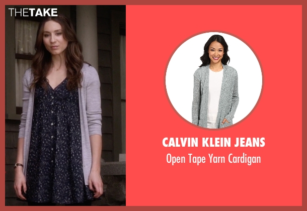 Calvin Klein Jeans gray cardigan from Pretty Little Liars seen with Spencer Hastings  (Troian Bellisario)