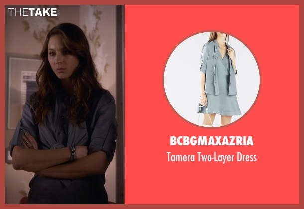 BCBGMAXAZRIA gray dress from Pretty Little Liars seen with Spencer Hastings  (Troian Bellisario)