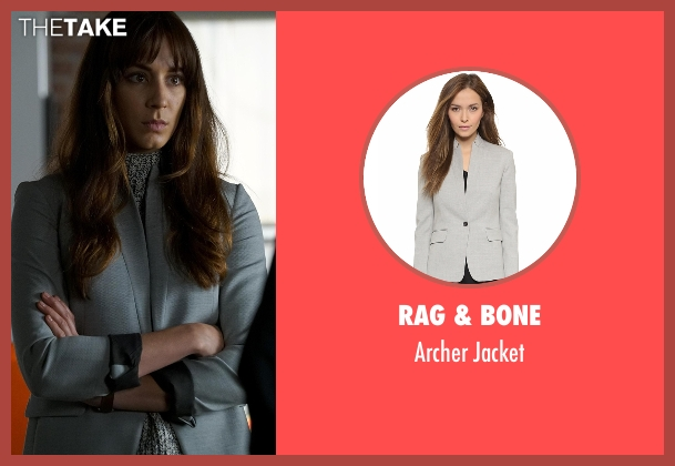 Rag & Bone gray jacket from Pretty Little Liars seen with Spencer Hastings  (Troian Bellisario)