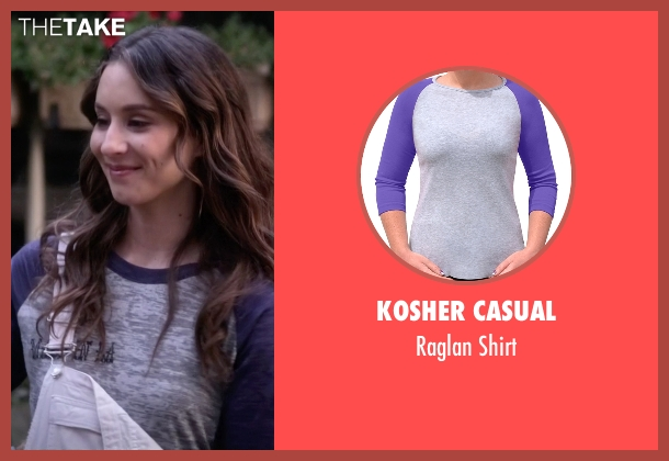 Kosher Casual gray shirt from Pretty Little Liars seen with Spencer Hastings  (Troian Bellisario)