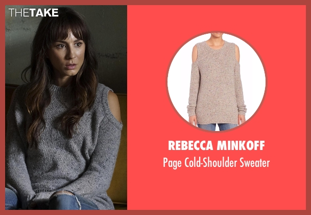 Rebecca Minkoff  gray sweater from Pretty Little Liars seen with Spencer Hastings  (Troian Bellisario)