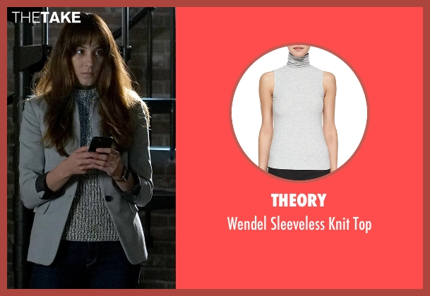 Theory  gray top from Pretty Little Liars seen with Spencer Hastings  (Troian Bellisario)