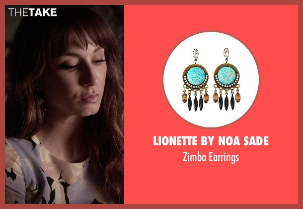 Lionette by Noa Sade green earrings from Pretty Little Liars seen with Spencer Hastings  (Troian Bellisario)