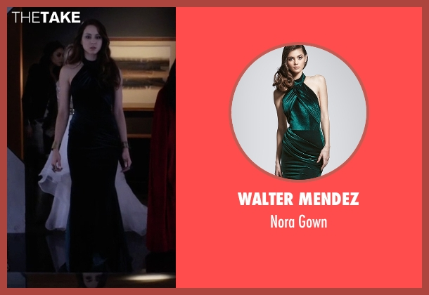 Walter Mendez green gown from Pretty Little Liars seen with Spencer Hastings  (Troian Bellisario)