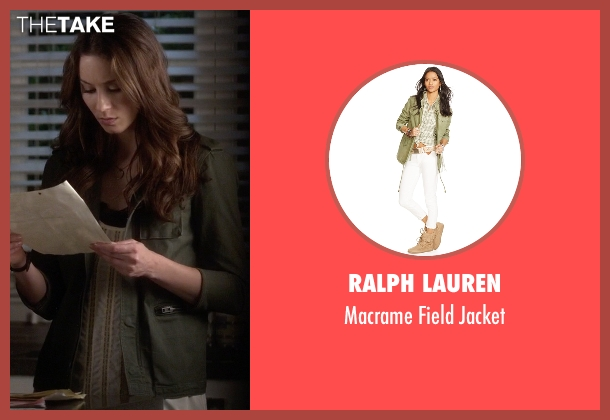 Ralph Lauren green jacket from Pretty Little Liars seen with Spencer Hastings  (Troian Bellisario)