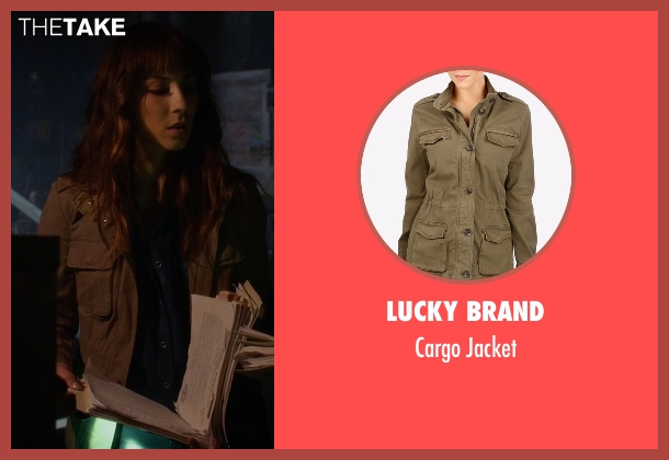 Lucky Brand green jacket from Pretty Little Liars seen with Spencer Hastings  (Troian Bellisario)