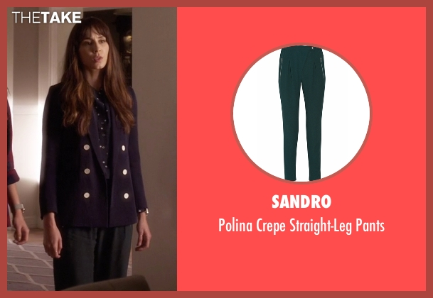 Sandro green pants from Pretty Little Liars seen with Spencer Hastings  (Troian Bellisario)