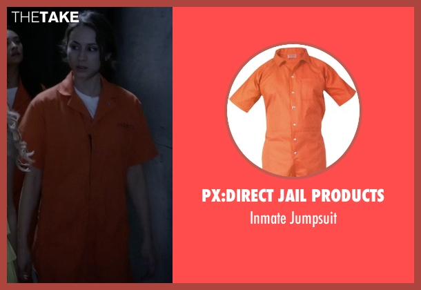 Px:Direct Jail Products jumpsuit from Pretty Little Liars seen with Spencer Hastings  (Troian Bellisario)
