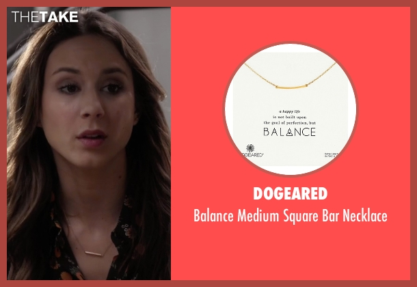 Dogeared pink necklace from Pretty Little Liars seen with Spencer Hastings  (Troian Bellisario)