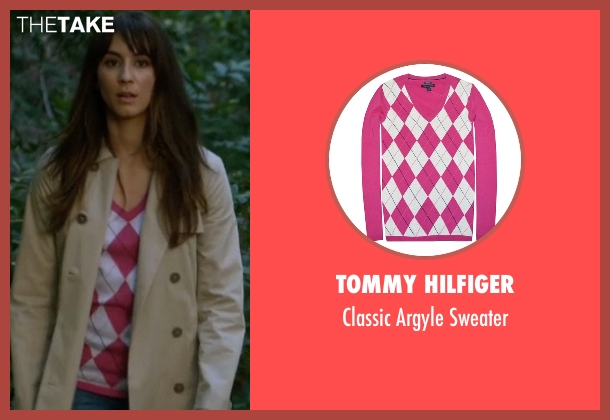 Tommy Hilfiger pink sweater from Pretty Little Liars seen with Spencer Hastings  (Troian Bellisario)