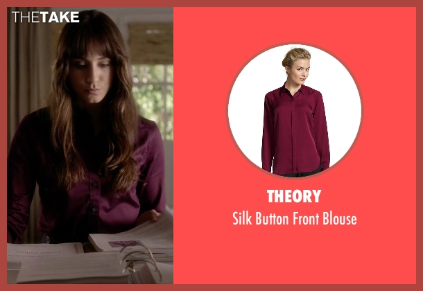Theory purple blouse from Pretty Little Liars seen with Spencer Hastings  (Troian Bellisario)