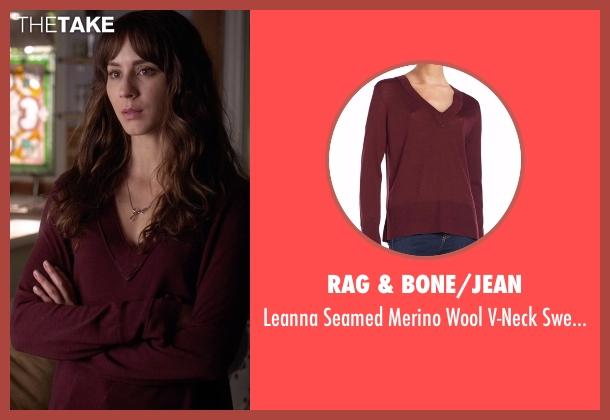 Rag & Bone/Jean  purple sweater from Pretty Little Liars seen with Spencer Hastings  (Troian Bellisario)