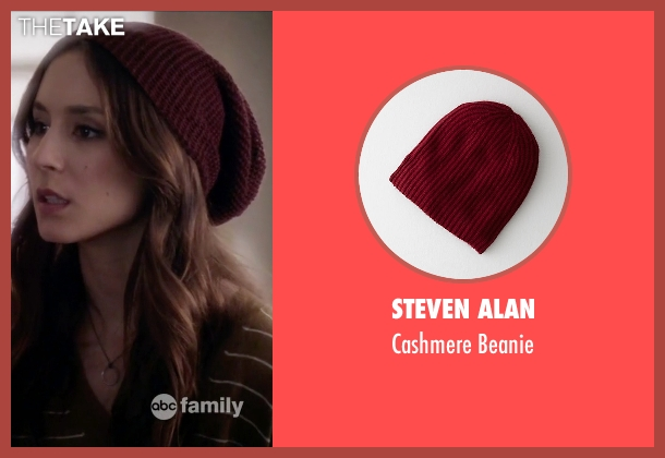 Steven Alan red beanie from Pretty Little Liars seen with Spencer Hastings  (Troian Bellisario)