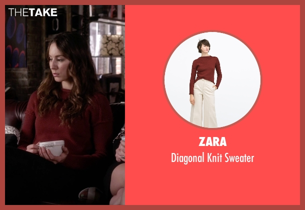 Zara red sweater from Pretty Little Liars seen with Spencer Hastings  (Troian Bellisario)