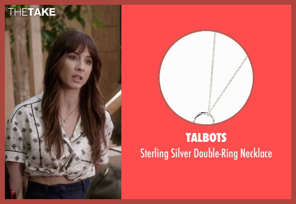 Talbots silver necklace from Pretty Little Liars seen with Spencer Hastings  (Troian Bellisario)