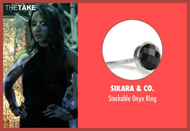 Sikara & Co. silver ring from Pretty Little Liars seen with Spencer Hastings  (Troian Bellisario)